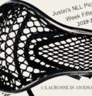 Justin's NLL Picks Week Fifteen 3/22/19