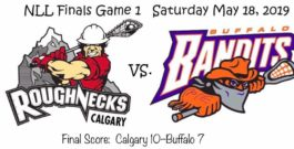Roughnecks Steal Game 1 in Buffalo – 5/18/2019